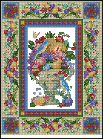 Описание: Схема для вышивки крестом - Dimensions 03793 Элегантная ваза в формате xsd.