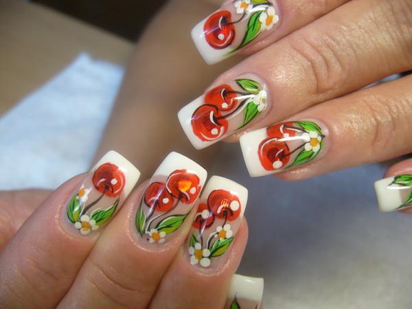 Вишня дизайн ногтей