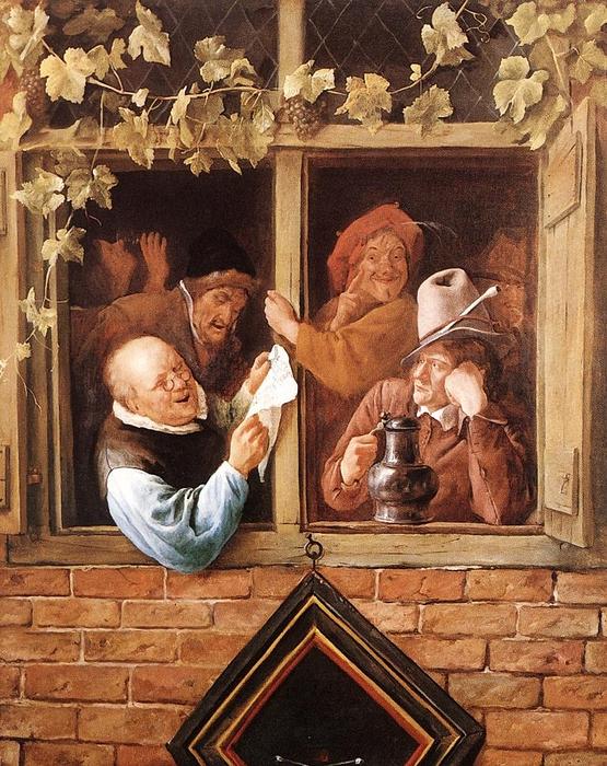 Rhetoricians at a Window by Jan Steen, 1662-1666 (555x700, 380Kb)