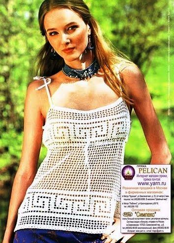 крючком узоры с описанием крючок летние майки ... для женщин вязание для...
