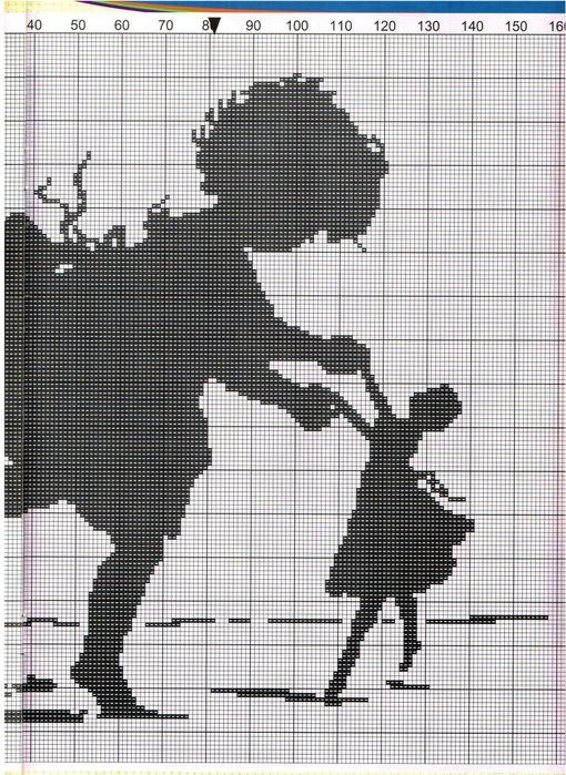 Вышивка крестом монохром детям