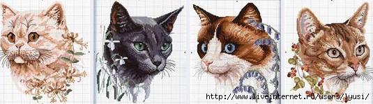 кошки вышивка крестом
