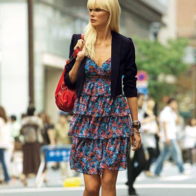 Описание: Feel-best.ru - Платье женское с воланами.