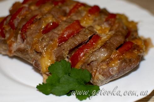 Свинина в духовке с помидорами и сыром пошаговый рецепт