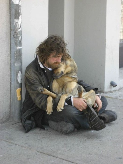 собака и человек (525x700, 55Kb)