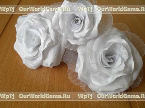 Как сделать большие розы из ткани своими руками