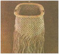 Схема плетения сумочки-кошелька макраме.
