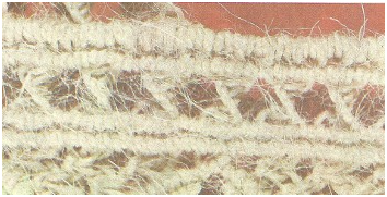 Схема плетения сумки в технике макраме.