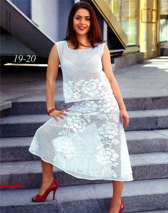 Филейное вязание платья и
