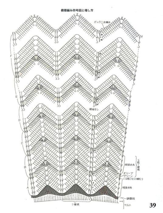 Юбка крючком узором зигзаг схема и описание