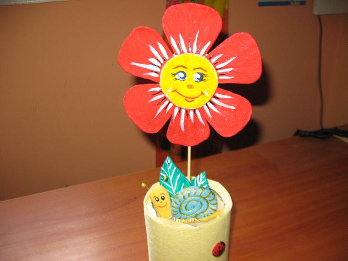 Поделка цвет в горшке 998
