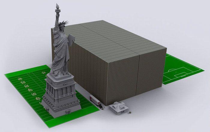 Долг США в 100-долларовых банкнотах 08 (700x441, 41Kb)