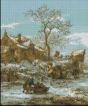 Превью Голландская зима. арт-573 Художник И.Ван Остейд. (Гобленсет Румыния) (150x180, 11Kb)