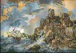 Превью Кораблекрушение у скал. арт-134  Гобелен-Сет Румыния (200x141, 13Kb)