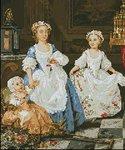 Превью Маленькие аристократки (В. Хогарт) арт-470 Гобелен-Сет Румыния (200x240, 21Kb)