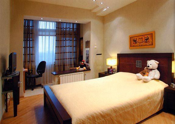 Спальня совмещенная с лоджией фото