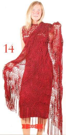 Вязание ажурной паутинки