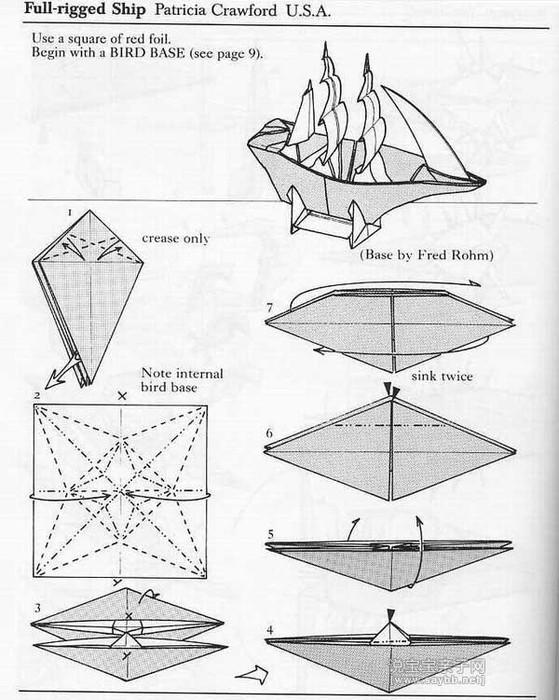 Как сделать парусник из бумаги своими руками