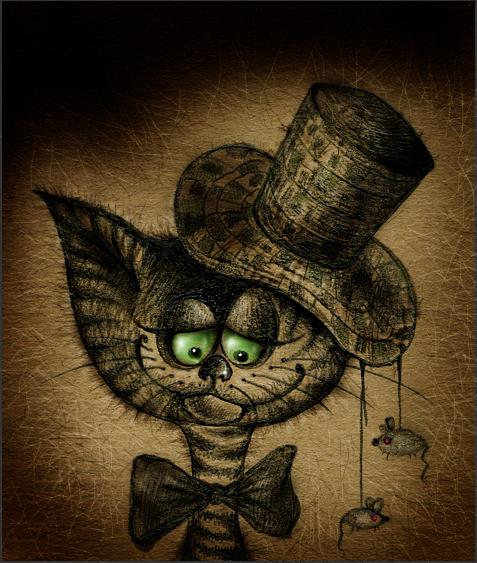 Котёнок в шляпе (477x563, 388Kb)