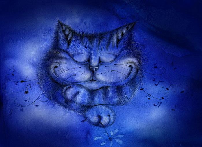 Сонный кот (700x508, 116Kb)