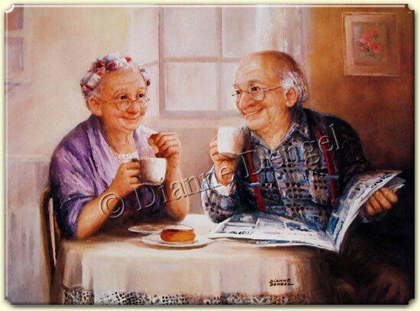 Счастливая старость Dianne Dengel Обсуждение на: =Художница Dianne Dengel. Улыбающаяся