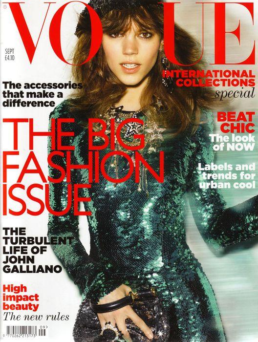 Фрея Бея Эриксен на обложке Vogue UK September 2011