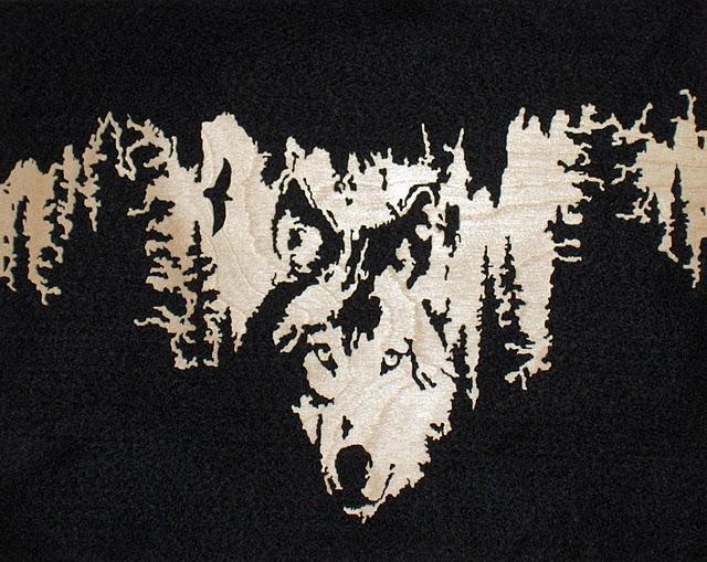 Рисунки волков для выжигания