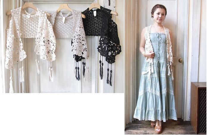 Японское вязание платьев