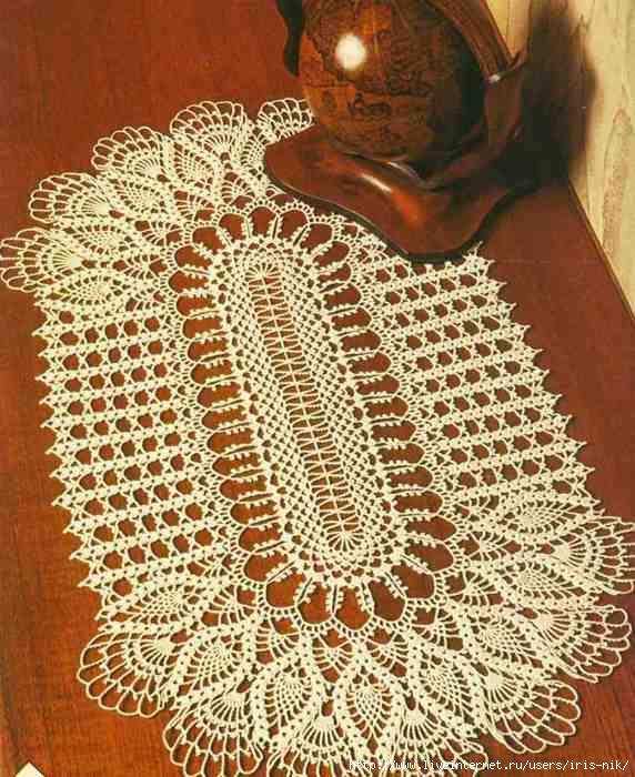 Вязание овальных салфеток крючком становится все более популярным среди современных.