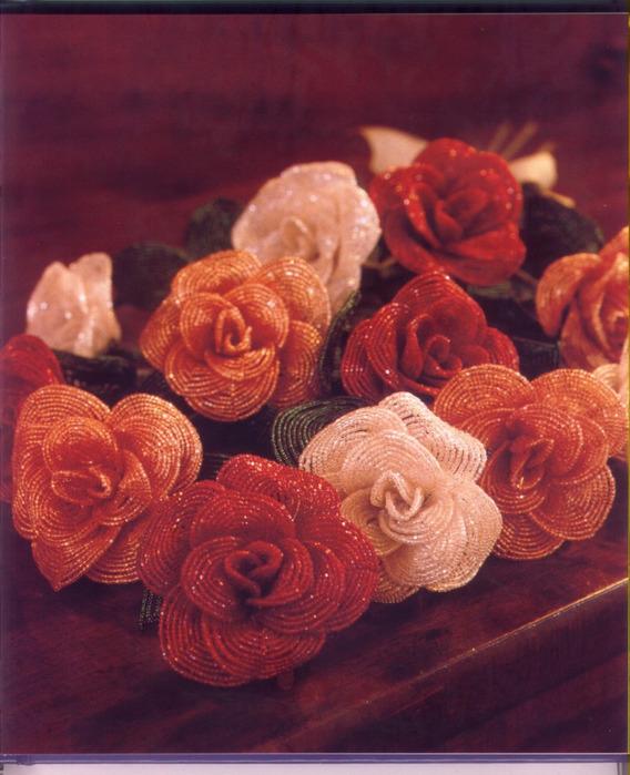 розы из бисера мастер класс - Сделай сам!