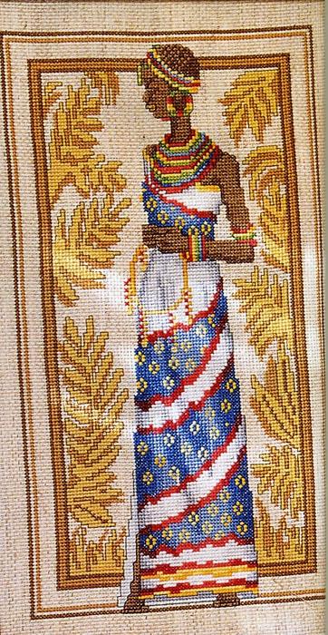 Вышивка. Африканка