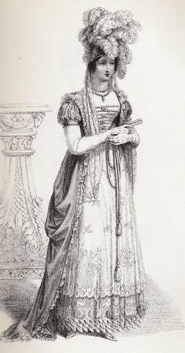 Эскизы женских костюмов XIX века :: Мода.