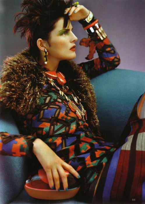 Стелла Теннант на страницах Vogue UK September 2011