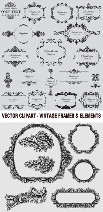 4103842_Vector_clipart__vintage_frames__elements_400 (340x700, 72Kb)