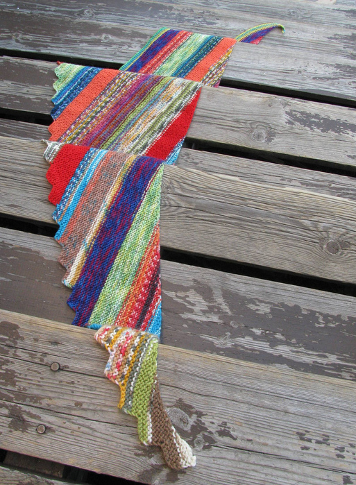 使用剩线来织条围巾 - maomao - 我随心动