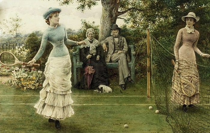 t_George_Goodwin_Kilburne_(English_painter,_1839-1924)_A_Game_of_Tennis (700x443, 288Kb)