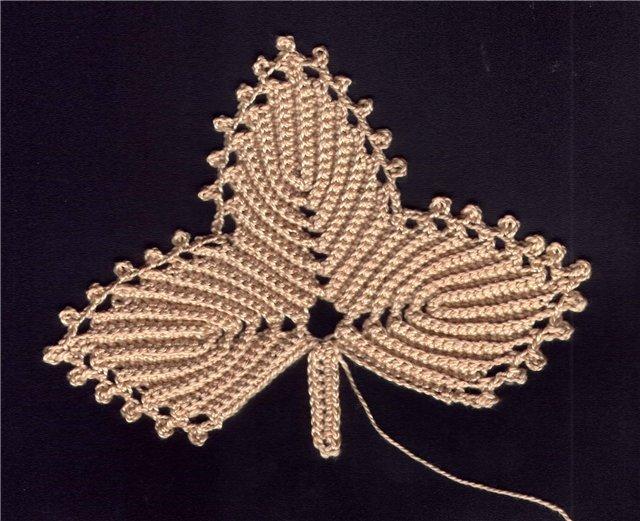 爱尔兰花边花型:叶和小叶钩 - maomao - 我随心动