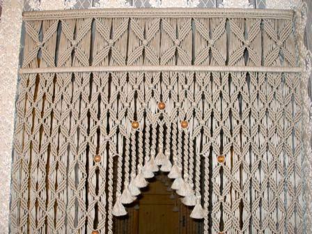 макраме плетение штора для