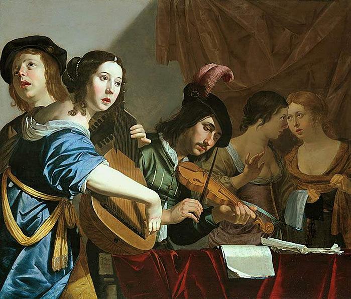 Jan Hermansz van Bijlert (Dutch painter, c 1597–1671) Musical Company (700x596, 465Kb)