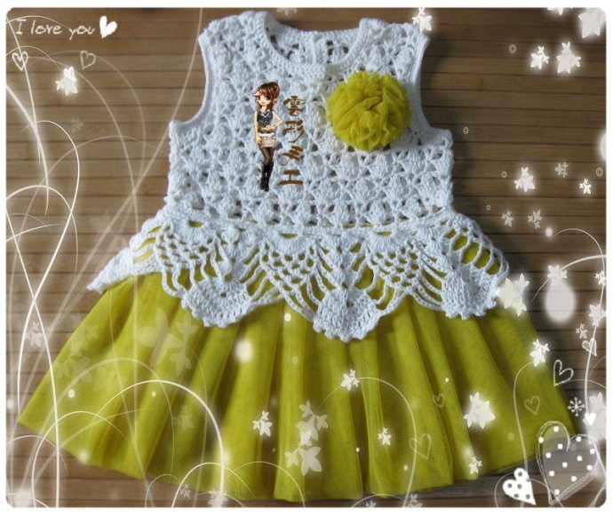 Платье крючком маленьким принцессам