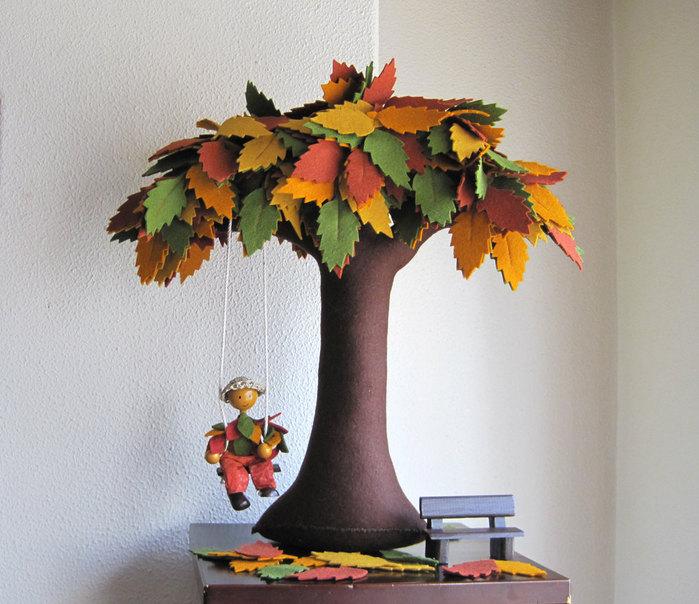 Как сделать осеннюю поделку дерево - Stoma Estetica