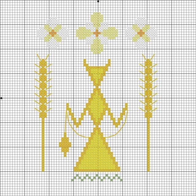 вышивка_оберег хозяйки дома - Макошь_СХЕМА_на зел фоне-можно для себя (640x640, 162Kb)
