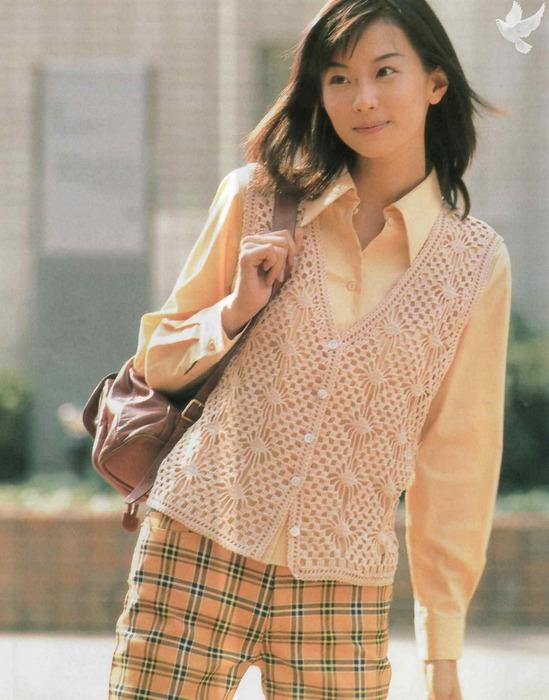 10 жилетов японское вязание