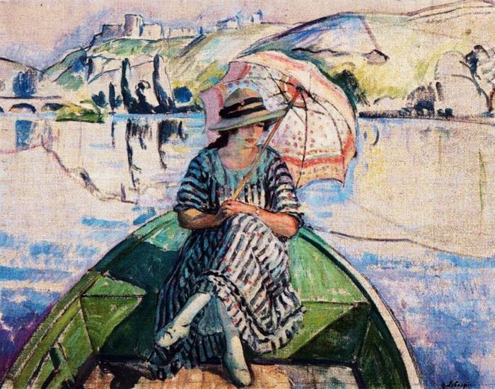 Henri_Lebasque_(French_artist,_1865-1937)__Promenade_Sur_L'Eau_1918 (700x550, 375Kb)