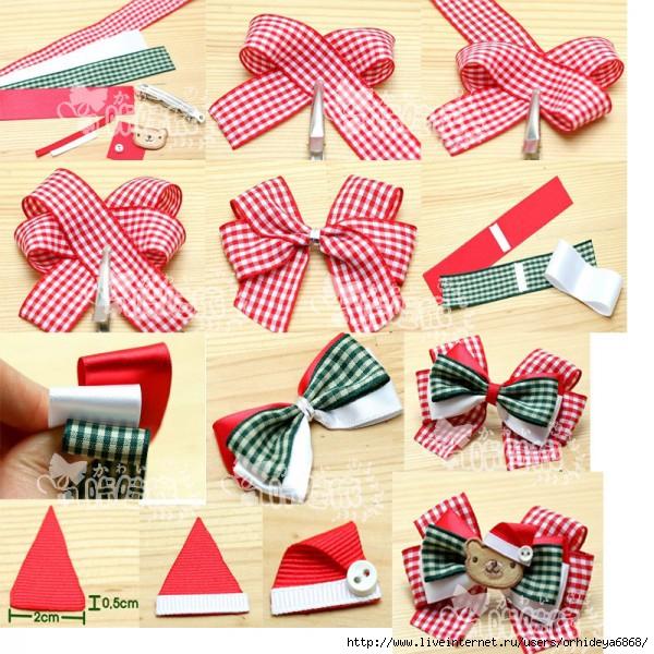 Как сделать бантики для девочки своими руками