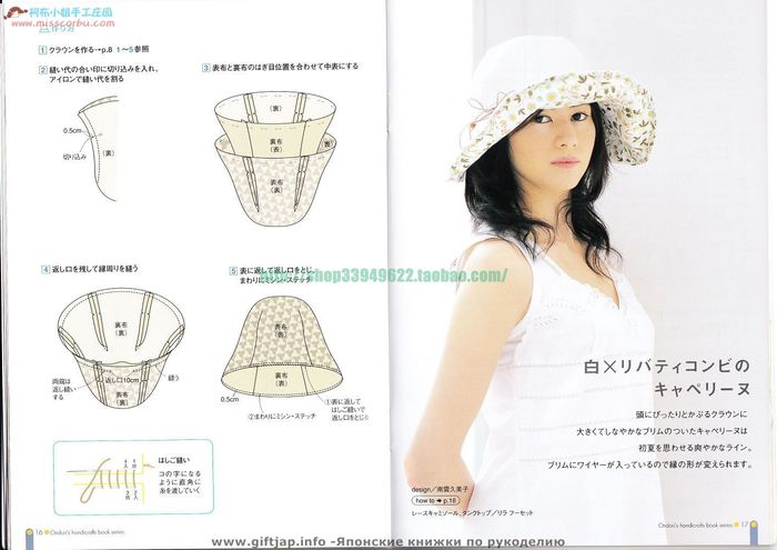 Летняя шляпа выкройки