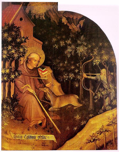 Томас де Колосвар. «Святой Эгидий» (Створка Алтаря Гарамшентбенедек) (470x600, 101Kb)