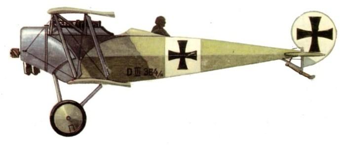 03 Фоккер Д-3 Удета с фанерным стрелком 1916 г (700x298, 25Kb)