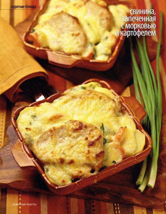 Запеченная картошка в духовке со свининой рецепт пошагово