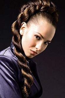Коса жгут из волос фото.